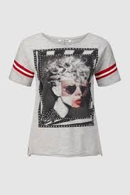 Rich and Royal 80-tallet grafisk t-shirt