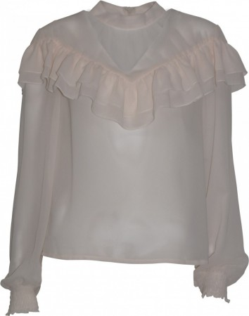 Soulmate Marna blouse med volang i blush